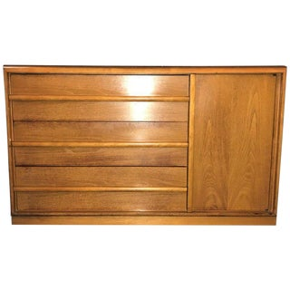 Mid-Century Modern Th Robsjohn-Gibbings Three Drawers Chest With Side Door For Sale