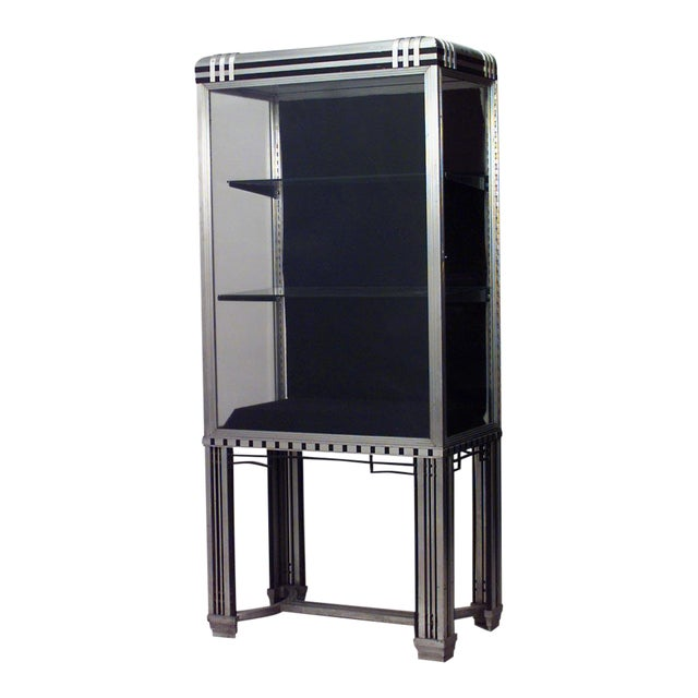 French Art Deco Steel and Glass Vitrine (Display) Cabinet For Sale