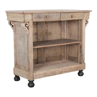 Late 19th Century French Bleached Oak Bar For Sale