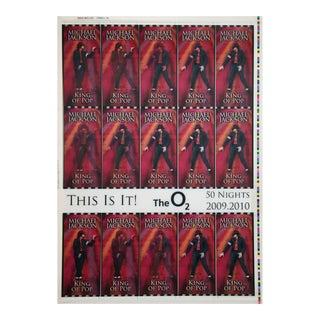 Michael Jackson This Is It! Uncut 2009 Lenticular Concert Ticket Sheet Form 3,3A Michael Jackson 2009 For Sale
