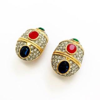 Gold Tone Cabochons Statement Earrings by Kenneth Jay Lane Preview