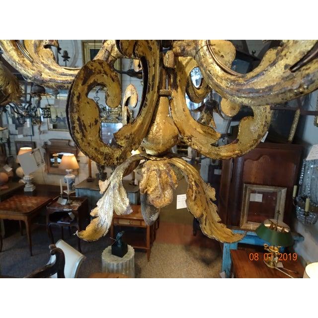 Metal 17th Century Venetian Chandelier For Sale - Image 7 of 12