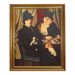 """""""Women at a Café"""" Painting - Copy"""