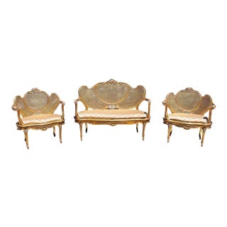Gilt Rococo Salon Set - Set of 3 For Sale