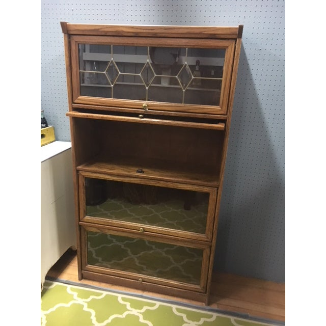 Oak lawyers bookcase antique tiger oak barrister bookcase lawyer cabinet  antique tiger oak barrister bookcase lawyer - Globe-Wernicke Oak And Leaded Glass Our-Stack Barrister Bookcase