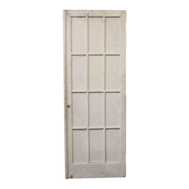 Antique Salvaged Antique White 12 Glass Panel French Door Chairish