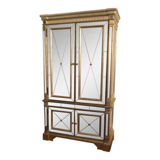 Hooker X Horchow Silver Leaf Armoire For Sale