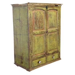 Vintage Rustic Anglo Indian Teak Cabinet For Sale