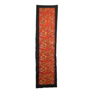 Antique Chinese Embroidered Wall Hanging For Sale