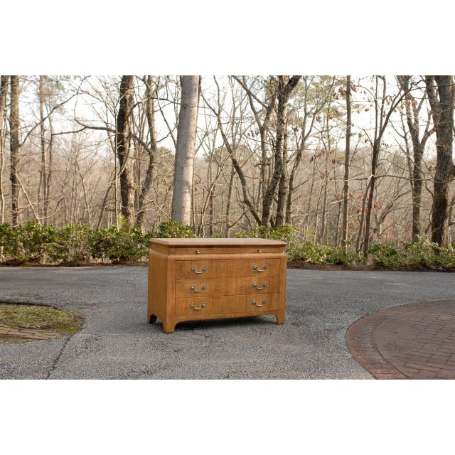 Mid-Century Modern Heavenly Raffia Chest by Harrison Van Horn For Sale - Image 3 of 11