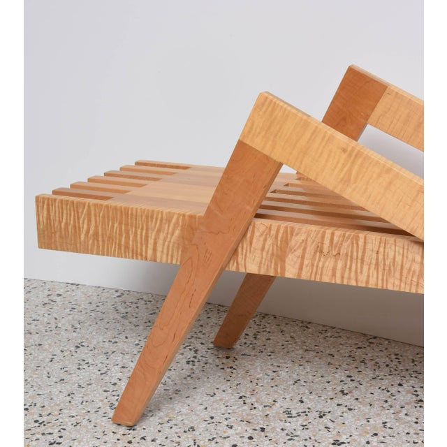 "Modern Bespoke Wood, ""Grasshopper"" Bench by the American Architect, Marc Phiffer For Sale - Image 3 of 10"