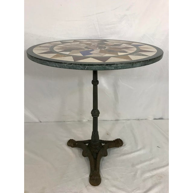 French French Antique Bistro Table For Sale - Image 3 of 7