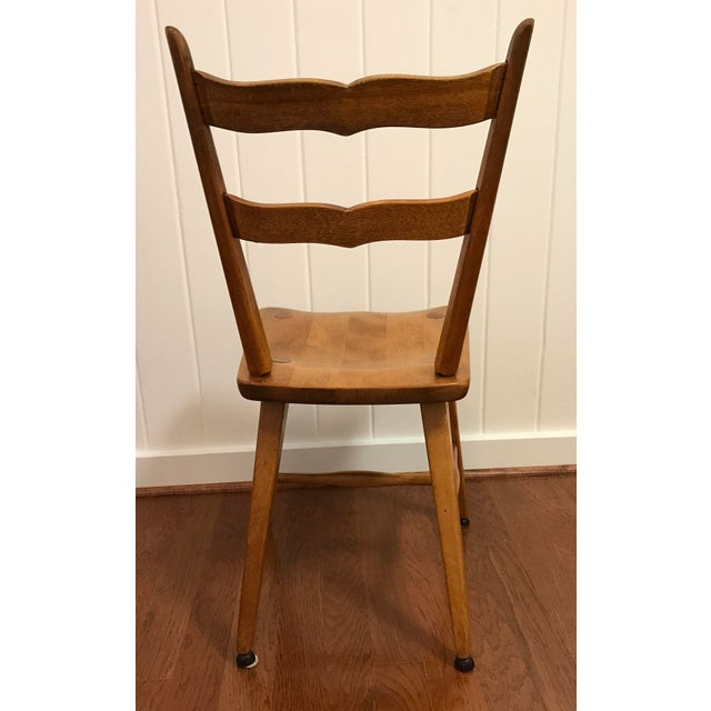 Mid 20th Century Mid Century Cushman Birch Solid Wood Chair For Sale - Image 5 of 10