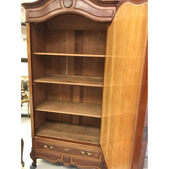Antique French Wood Armoire - Image 5 of 8