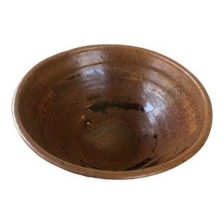 Vintage Art Studio Pottery Bowl Signed For Sale