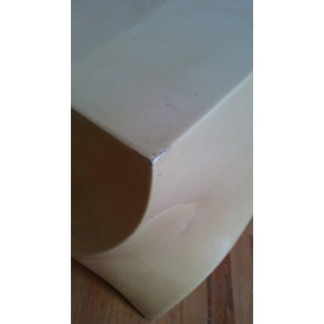 Animal Skin Modern Goatskin Twist Pedestal Table For Sale - Image 7 of 8