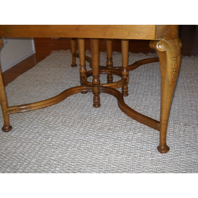 French Provincial Solid Oregon Maple Dining Set - Image 6 of 11