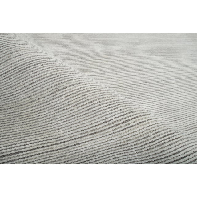 Contemporary Stark Studio Rugs Contemporary Oriental Bamboo Silk and Wool Rug - 6' X 9' For Sale - Image 3 of 5