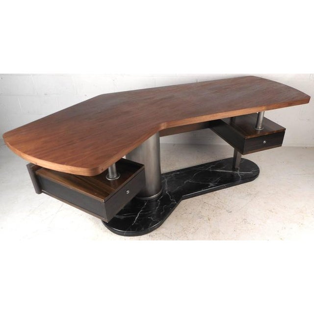 Mid-Century Modern Boomerang Desk For Sale - Image 5 of 11