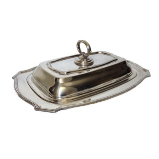 Vintage English Silverplate Lidded Entree Dish