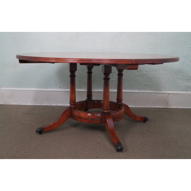 Guy Chaddock Parquet Top Extension Dining Table - Image 2 of 10