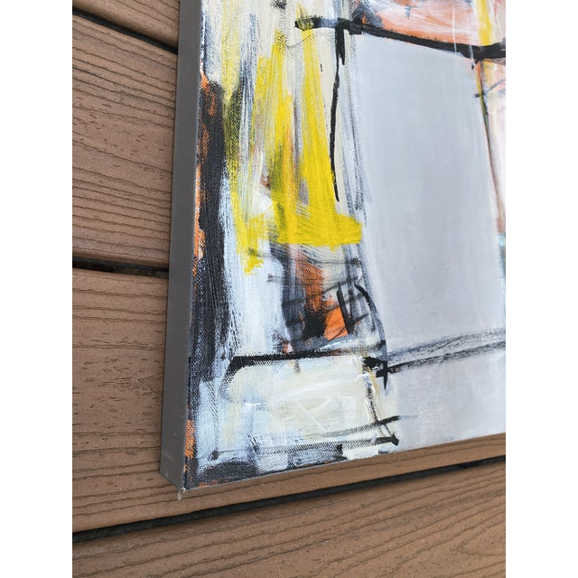"""2010s """"Spare Change"""" Contemporary Abstract Mixed-Media Painting by Sarah Trundle For Sale - Image 5 of 8"""