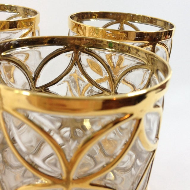 Imperial Glass 24KT Gold Glassware - Set of 4 For Sale In Atlanta - Image 6 of 6