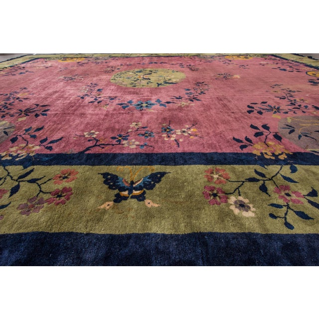 """Apadana Chinese Art Deco Rug - 12'3"""" X 14' For Sale In New York - Image 6 of 7"""