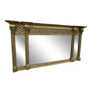 Antique Neoclassical Gilt Mantle Mirror
