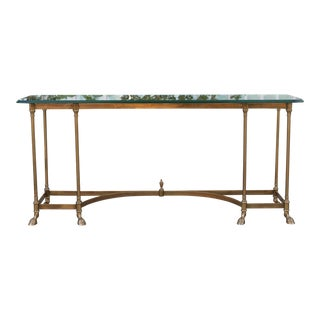 Italian Solid Brass Console Table