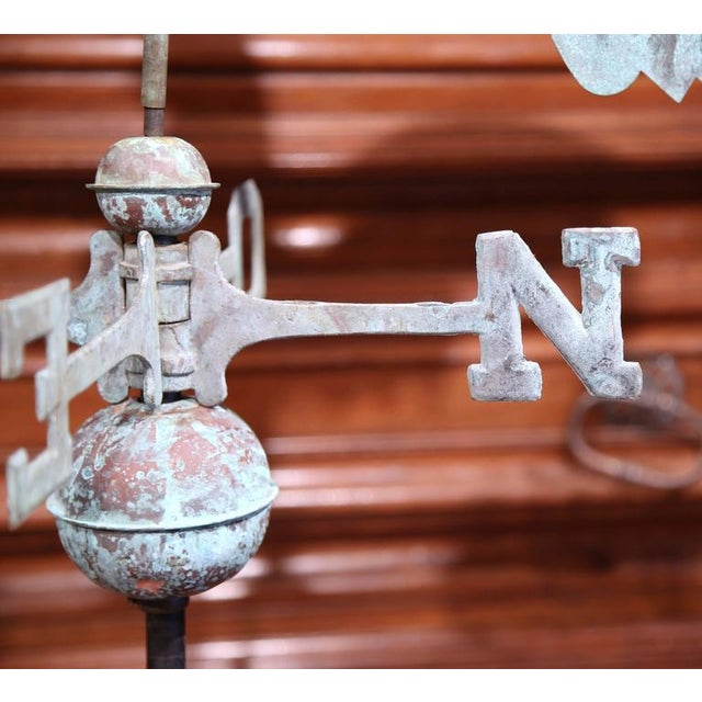 French Tole Rooster Weathervane For Sale In Dallas - Image 6 of 7