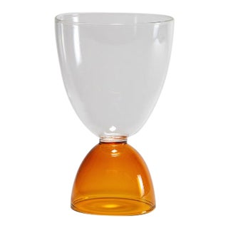 Mamo Cocktail Glass in Amber For Sale