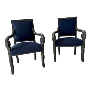 Painted Regency Style Chairs- a Pair For Sale