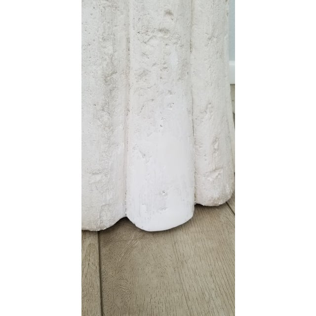 White John Dickinson Style Plaster Dining Table Base . For Sale - Image 8 of 10