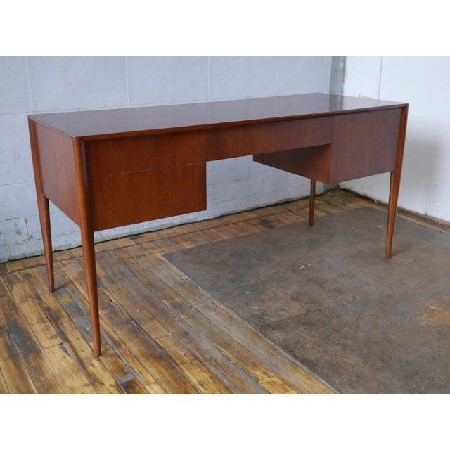 Mid-Century Modern T. H. Robsjohn-Gibbings Walnut Desk For Sale - Image 3 of 8