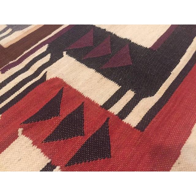 Vintage Peruvian Textile Wall Hanging Alpaca Parade - Image 6 of 11