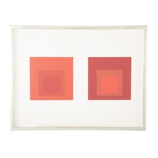 Joseph Albers Homage to the Square in Red For Sale