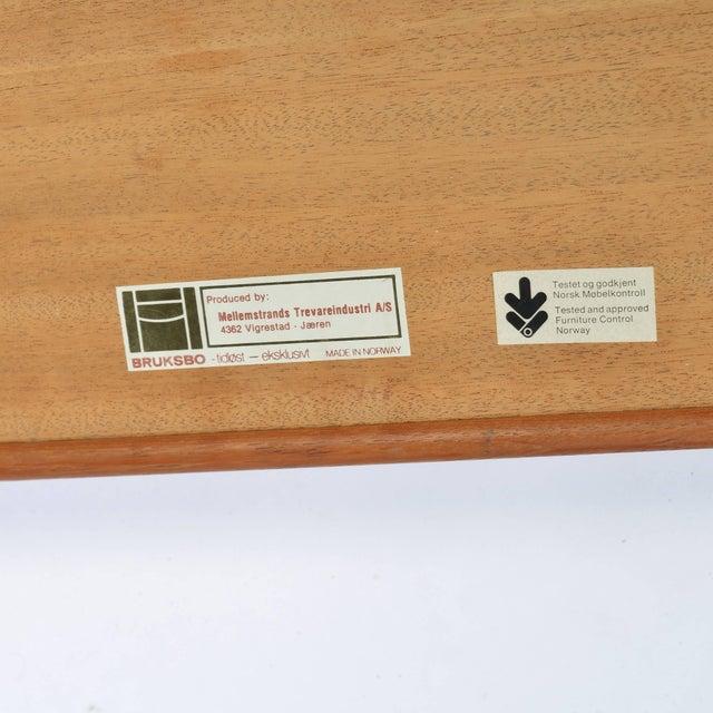 Teak Long Teak Bench 'Krobo' by Torbjörn Afdal for Bruksbo For Sale - Image 7 of 9