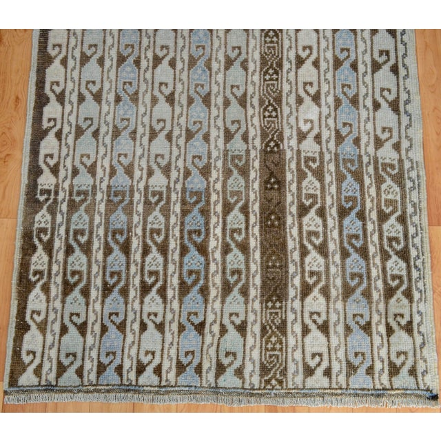 Turkish Hand-Knotted Oushak Runner Rug - 3' X 7' - Image 7 of 9
