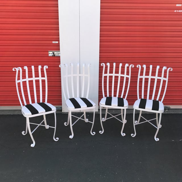 Vintage Metal Outdoor Chairs - Set of 4 - Image 2 of 11
