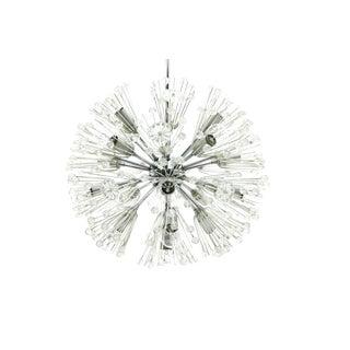 Emil Stejnar Chandelier Snowball Glass an Chrome Seventeen Lights Austria 1960 For Sale