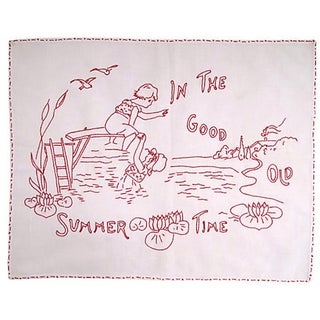 """""""In the Good Old Summer Time"""" Embroidery For Sale"""