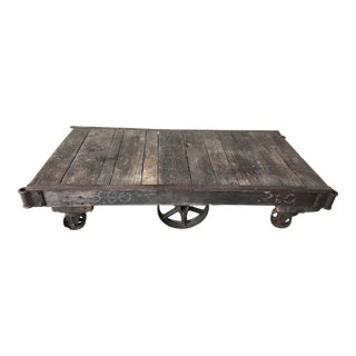 1900s Industrial Thomas Truck and Caster Co Lemp Brewer Coffee Table For Sale