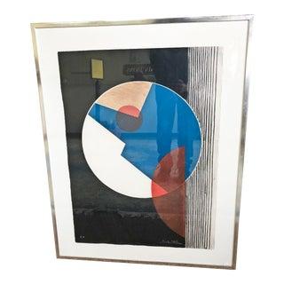 Mid Century Modern Abstract Framed Artist Proof Print