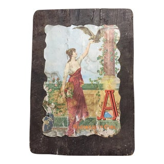 Antique Budweiser Girl Plaque For Sale