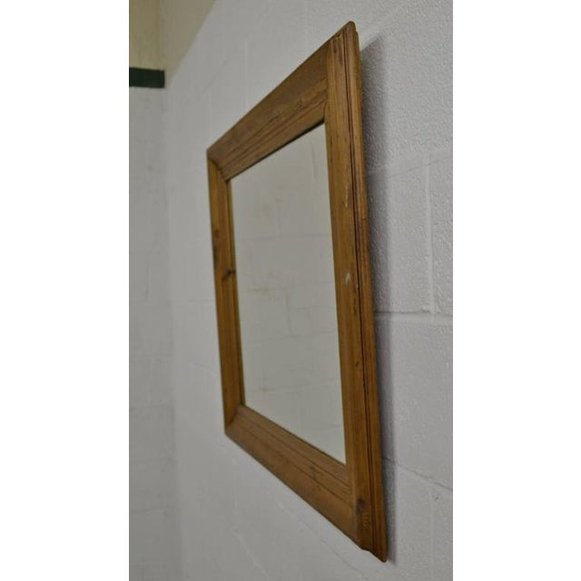 c0634e1352e0 Country Antique Pine Frame Mirror For Sale - Image 3 of 4
