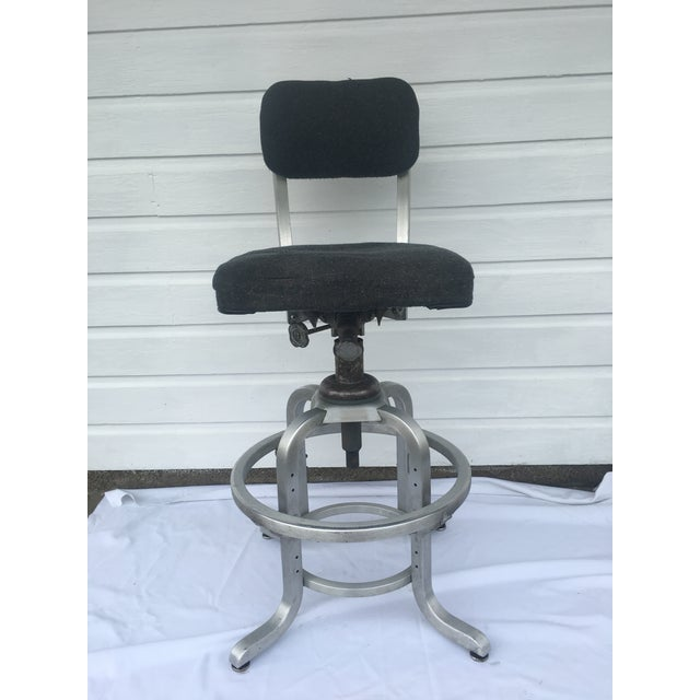 1960s Industrial Swivel Lab Stool For Sale - Image 10 of 10