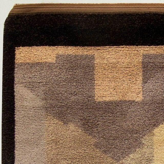 Vintage French Deco Rug by Greta Skoaster Woven at Kiikan Kutamo Workshop For Sale - Image 4 of 5
