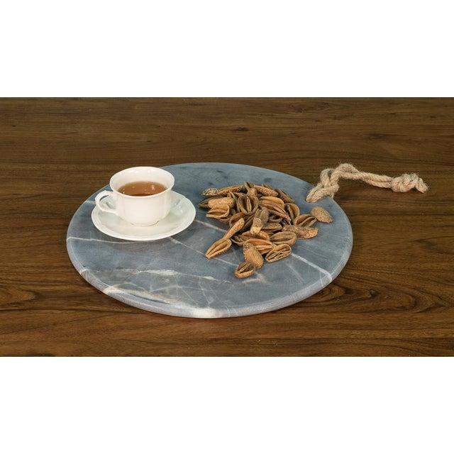 Sarreid Ltd. Marly Marble Plates - a Pair - Image 3 of 3