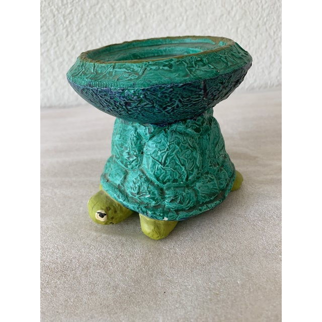 Midcentury Turtle Ceramic Candleholder For Sale In Sacramento - Image 6 of 11